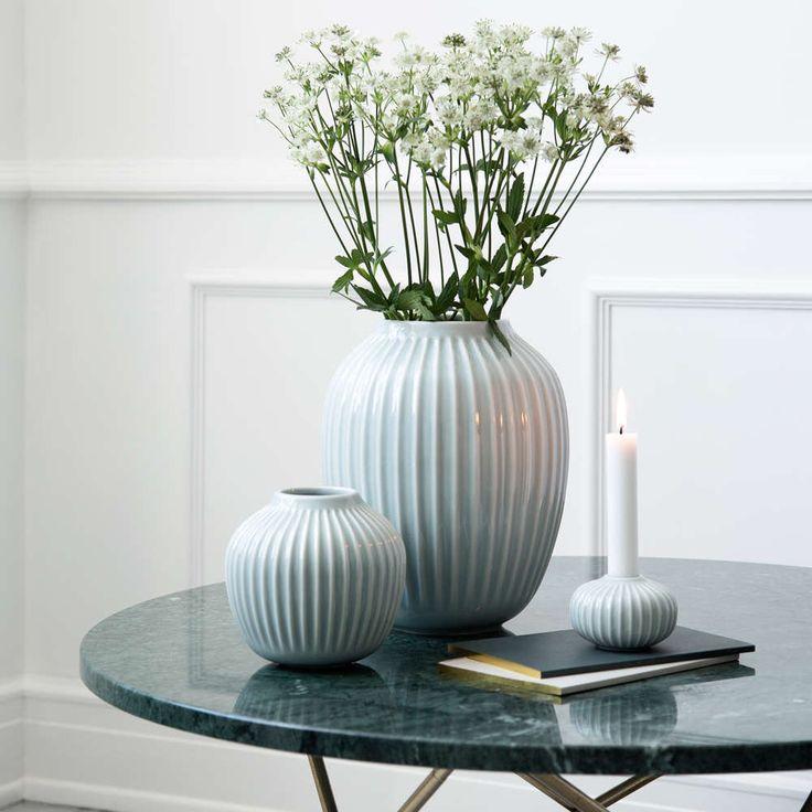Kähler hammershøi vase i mintgrønn eller hvit