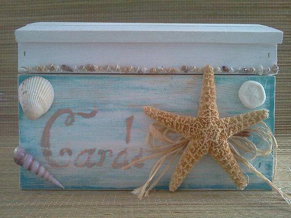Beach Themed Wedding Card Box $65.00