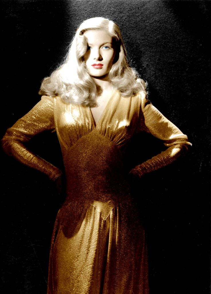Veronica Lake - I love this sultry and provocative pose. From the movie This Gun for Hire.