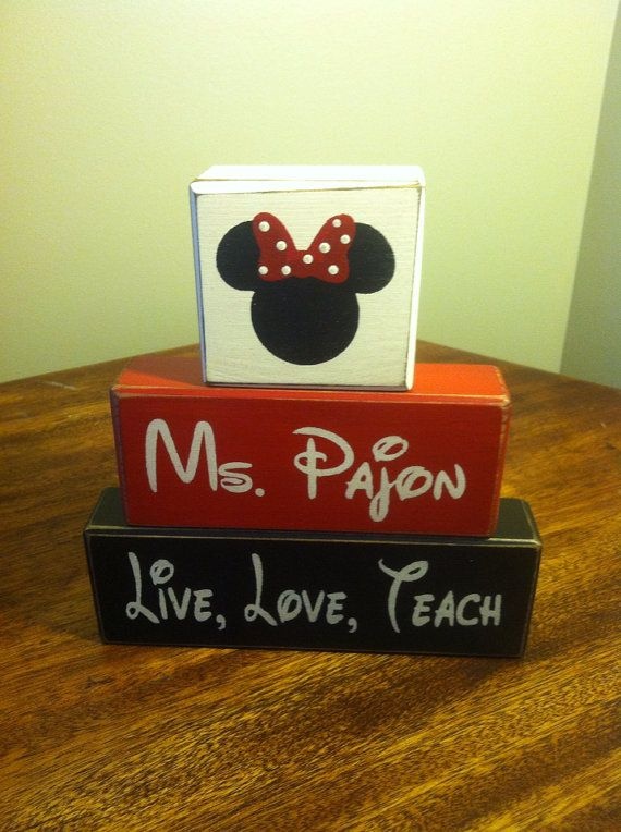 Minnie Mouse or Mickey personalized First or by AppleJackDesign
