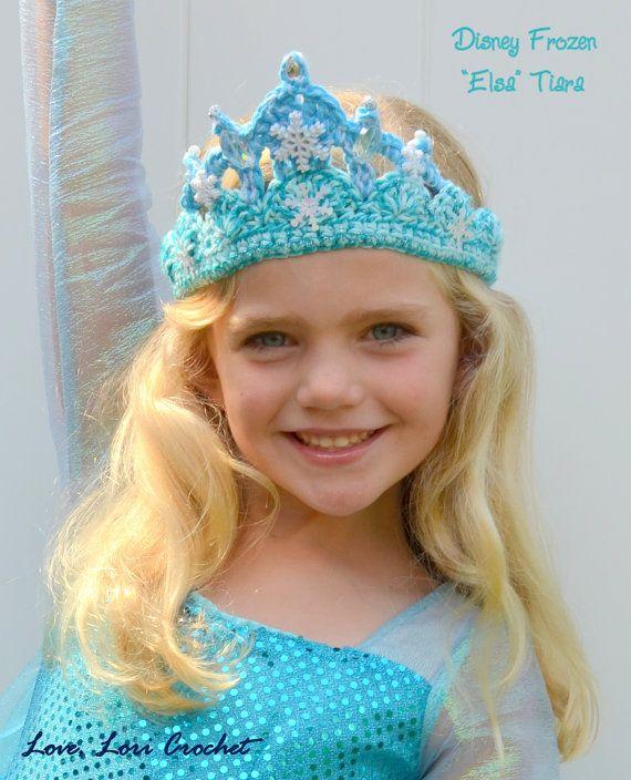 Disney congelado Elsa tiara de Elsa traje de por LoveLoriCrochet