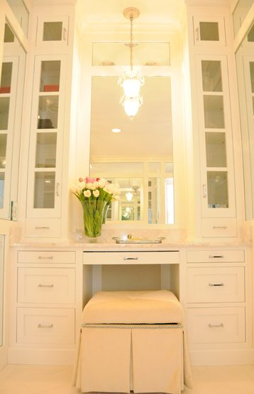 Best 25 Built In Vanity Ideas On Pinterest Organize Hair Tools Dressing Table Velvet Chair