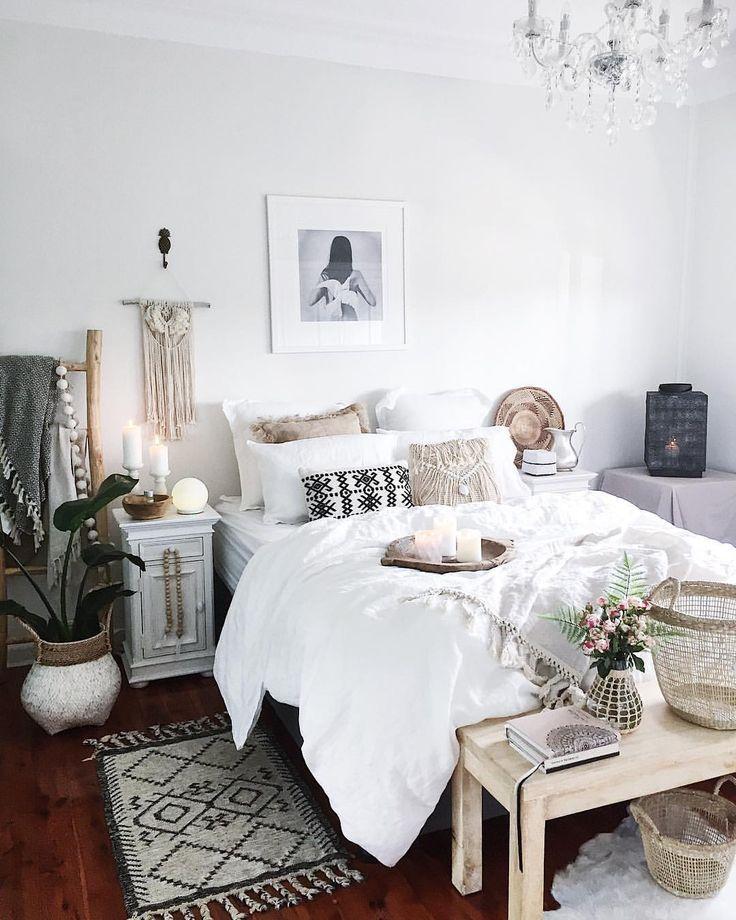 white boho bedroom home decor ideas in 2019 bedroom decor room rh pinterest com