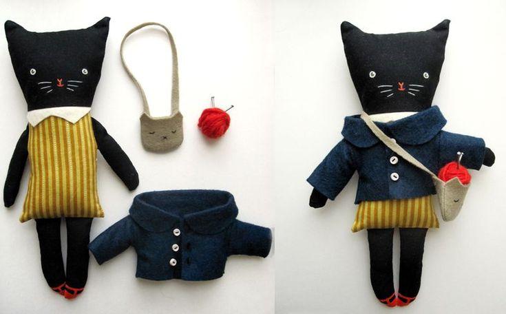 kitty: Sweetest Kitty, Knits Kitty, Dresses Up, Cat Dolls, Felt Cat, Kittens Dolls, Dolls Toys, Knits Cat, Black Cat