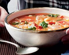 Spanish Shrimp & Chickpea Soup ~ Food & Drink