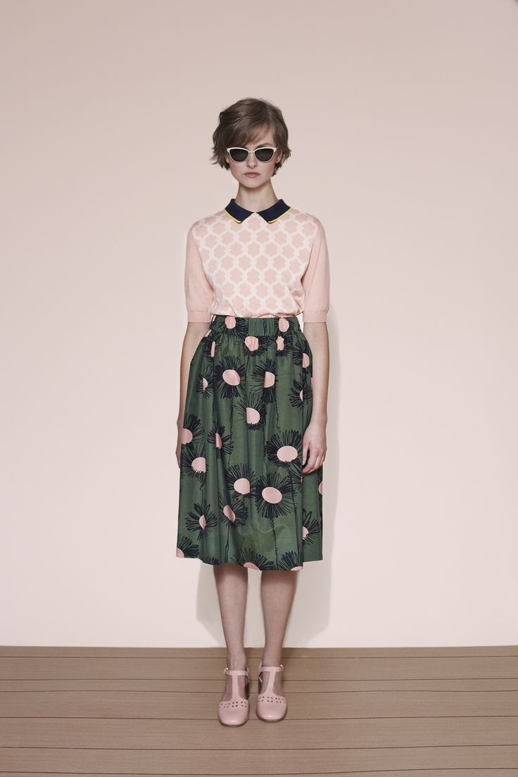Such a cute collection - Orla Kiely spring 2015 lookbook #skirt #print