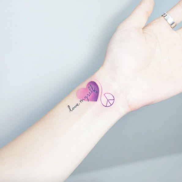 Cute wrist tattoo by IDA