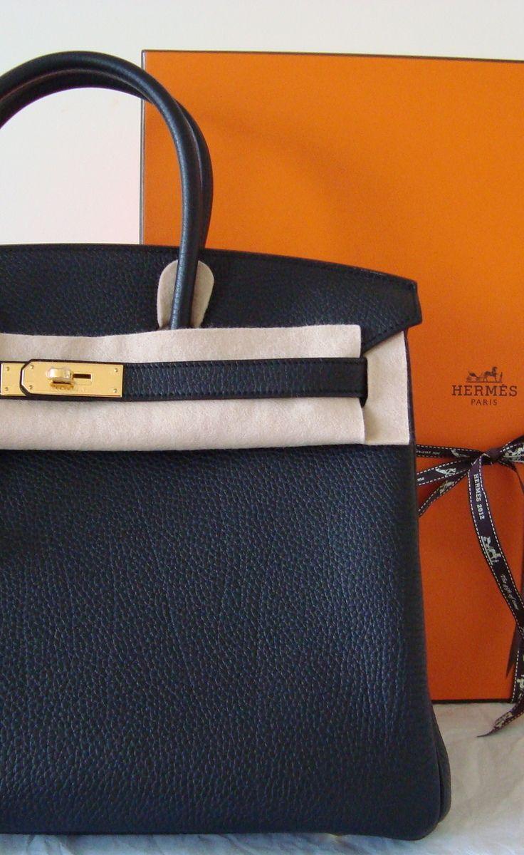 Herm��s Birkin Classic Black 35cm Togo Gold Hardware | Hermes ...