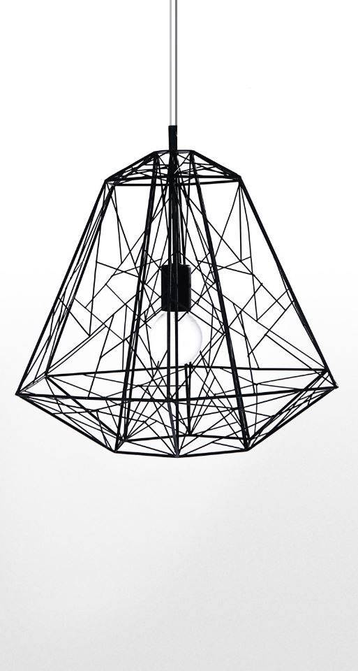 Add a unique and stylish touch to your home with this geometric pendant light…