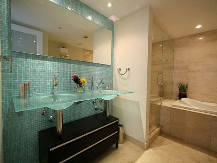 Bathroom Glass Tile Accent Ideas bathroom decoration brick look shower wall tiles with glass tiles