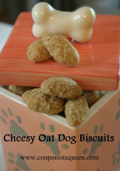 Homemade Dog Biscuit Recipe | Cheesy Oat Dog Biscuits {People friendly also!}