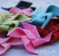 Wool felt pin wheels for her hair by Chic Baby Rose...handmade in the USA. $3.95