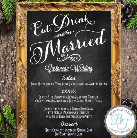 10+ ideas about Wedding Menu Chalkboard on Pinterest | Menu ...
