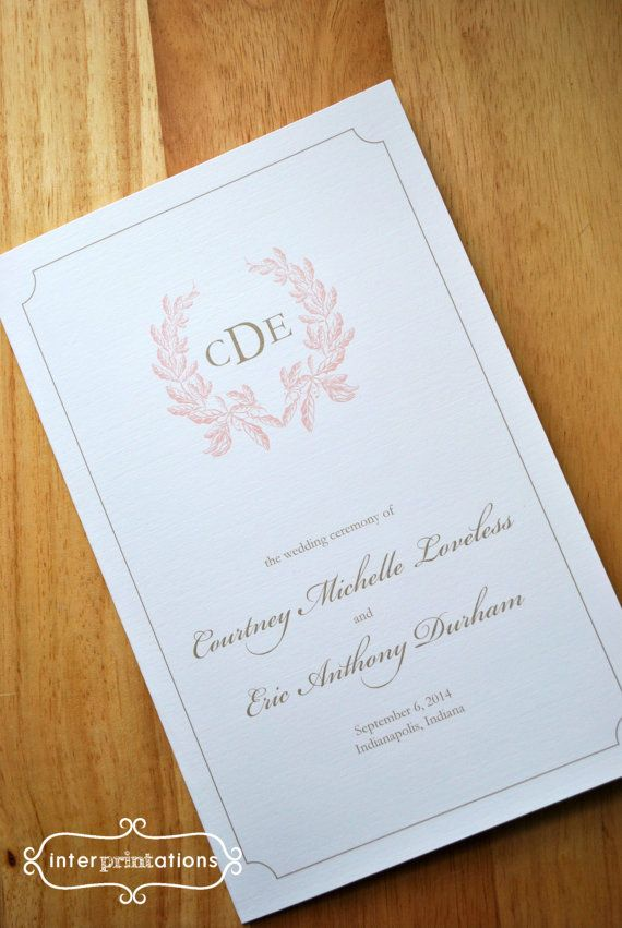 african wedding invitations uk%0A Wedding Ceremony Program Booklet Card   Courtney Collection   by  Interprintations