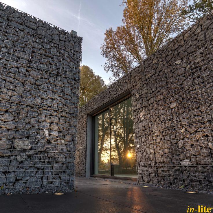 Moderne tuin | Grondspot BIG NERO | Licht tot 10 meter | 12V | Buitenverlichting | Inspiratie | Outdoor lighting