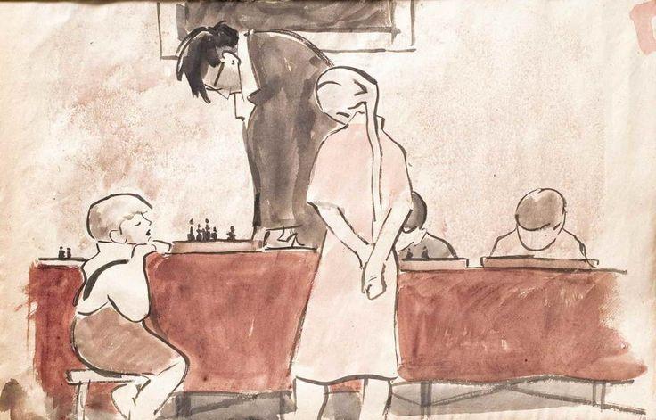 Сойфертис Леонид Владимирович (Россия, 1911-1996) «Игра в шахматы»