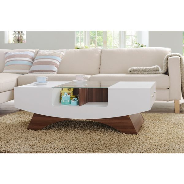 Furniture Of America Angelic 2 Drawer Contemporary Coffee Table