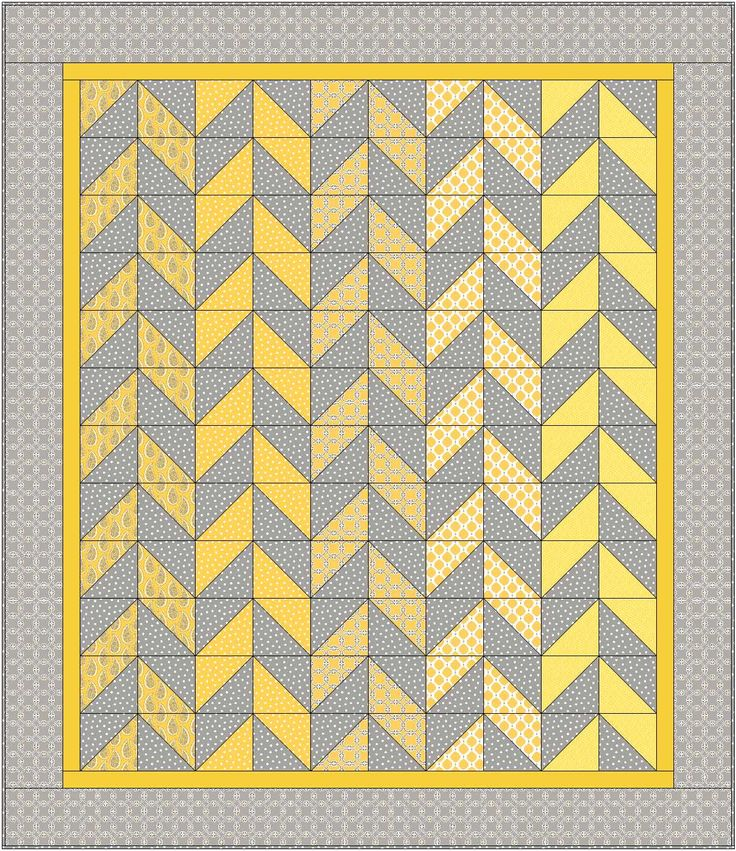 Christa Quilts Herringbone Gray Matters More