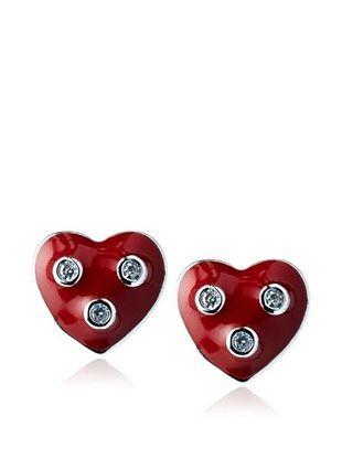 55% OFF Frida Girl Red Heart Stud Earrings