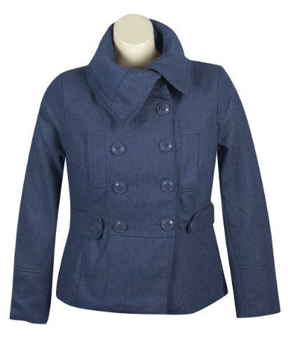 Plus Size Navy Pea Coat -- Size:2x Color:Navy Last Kiss. $70.99