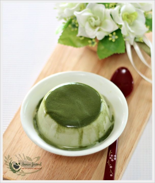 Matcha Milk Pudding 抹茶布丁 | Anncoo Journal - Come for Quick and Easy Recipes