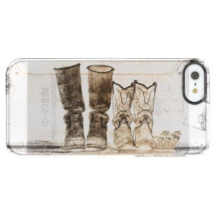 Ranch Hands Apple iPhone SEiPhone 5/5s Deflector Clear iPhone SE/5/5s Case - ranch gifts style nature home diy