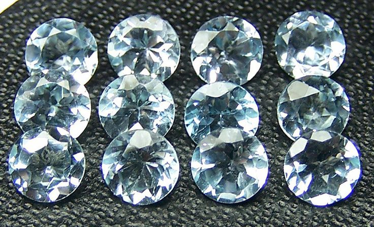 Masterpiece Natural Fine Sky Blue Topaz 5 MM Cut Loose Round Gemstone AAA