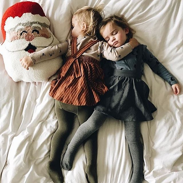 The children were nestled all snug in their beds, while visions of sugar plums danced in their heads...  @kcstauffer Baby and kid's clothing