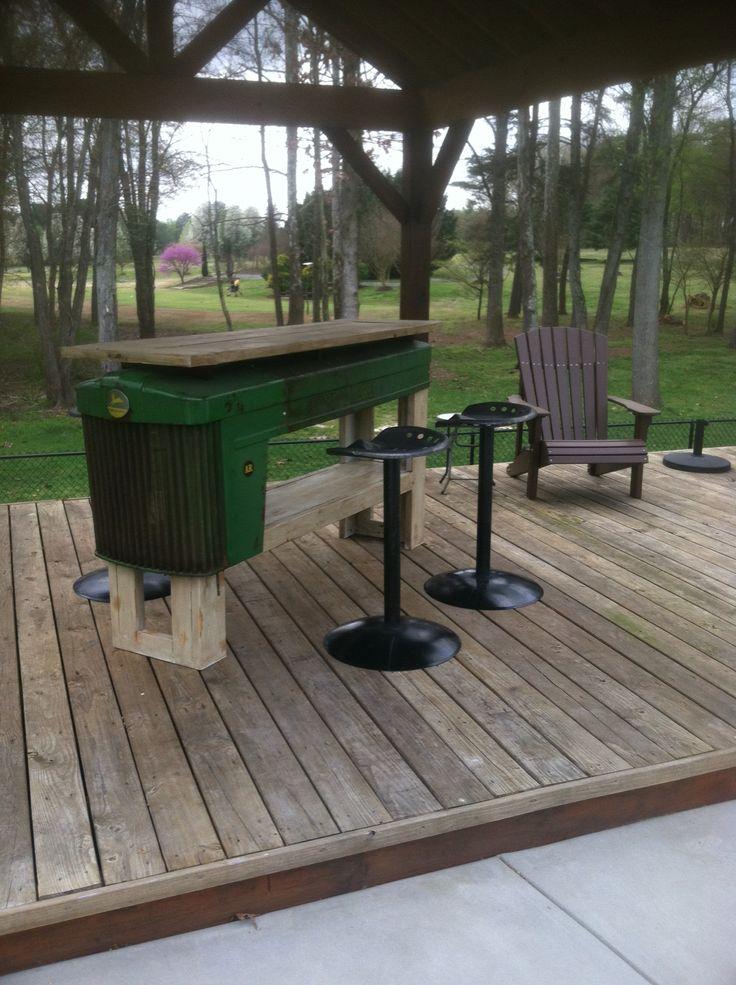 John Deere Ottoman : Images about table talk vintage repurposed on