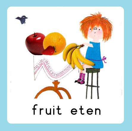 Daglijn Floddertje: fruit eten