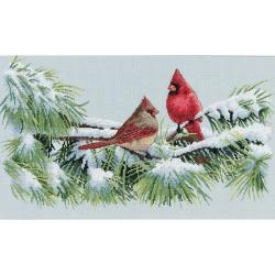 @Overstock - Dress up your home with this Dimensions creative kit Type: Counted cross stitch Design: Winter Cardinals http://www.overstock.com/Crafts-Sewing/Winter-Cardinals-Counted-Cross-Stitch-Kit/6203670/product.html?CID=214117 $16.99