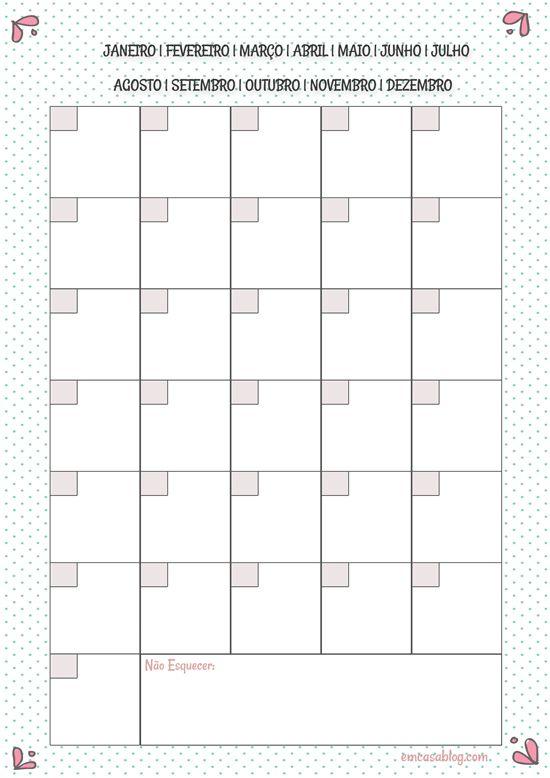 Planner mensal | free download