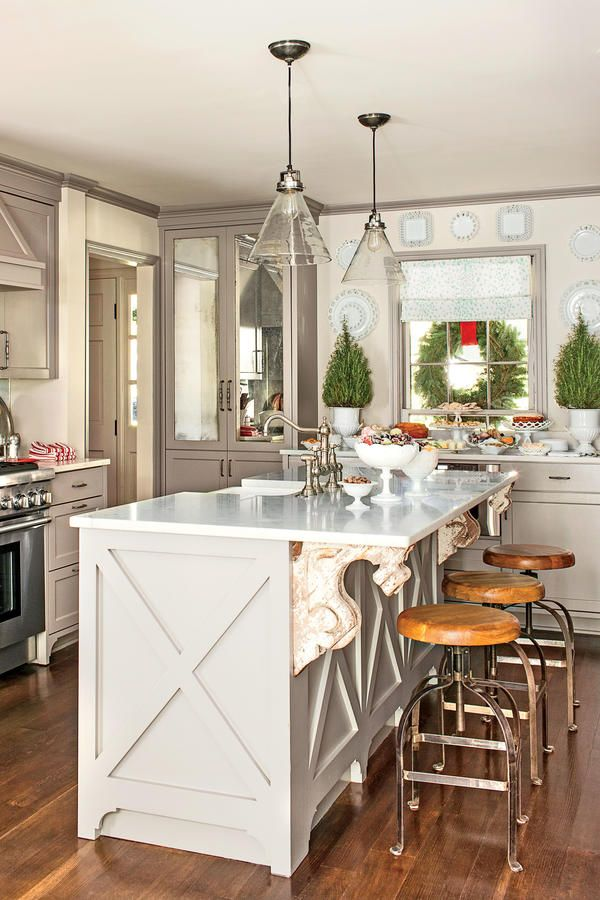 What She Did Kitchen Before After Carolina Colonial Christmas Southern Homessouthern Livingkitchen