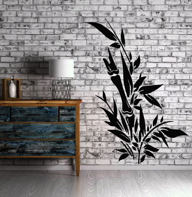 Decor Wall Sticker Vinyl Evergreen Bamboo Cane Beautiful Powerful Unique Gift (n198)
