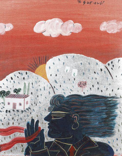 Alecos Fassianos (Greek, b. 1935), Untitled, c.1995. Oil on canvas