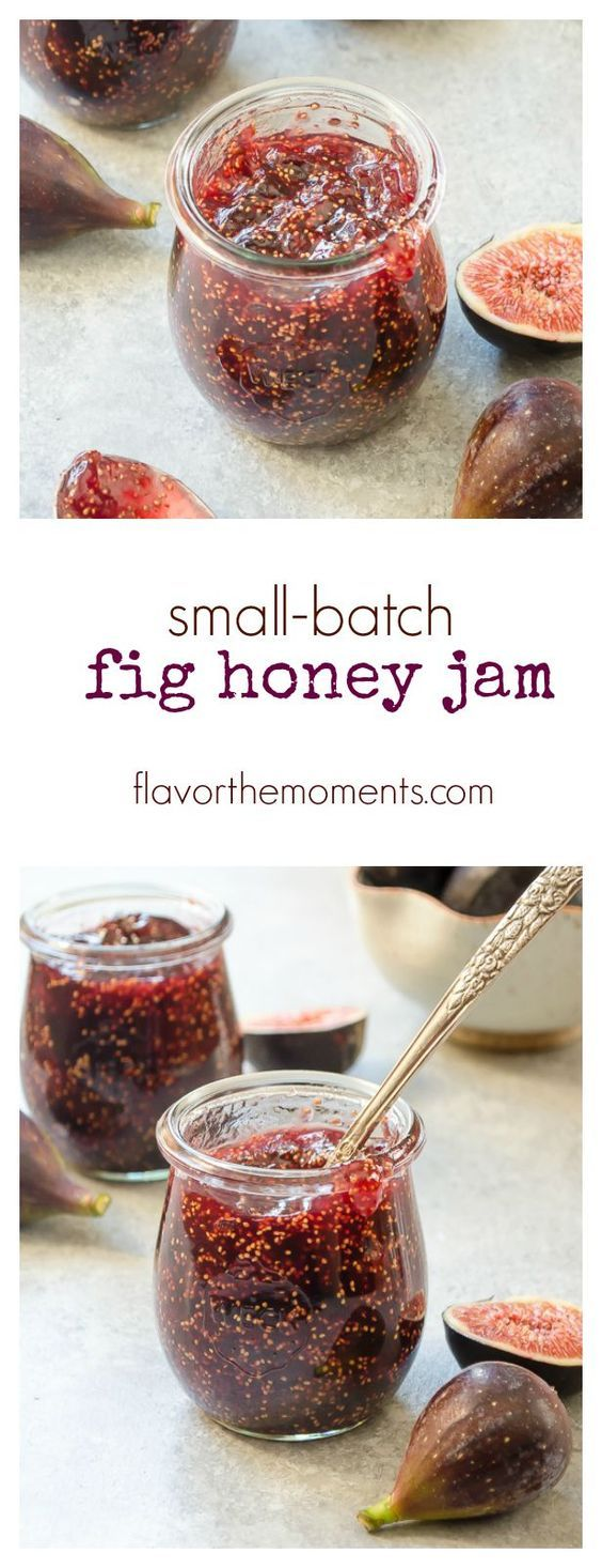Small-Batch Fig Honey Jam is easy to make with no pectin or canning required! It's rustic and chunky, with mild flavors of honey and vanilla.