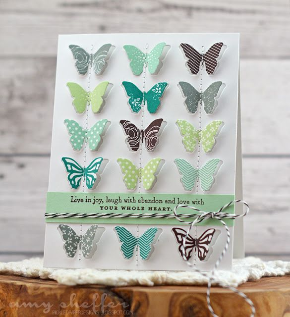 Live In Joy Card by Amy Sheffer for Papertrey Ink (January 2016)