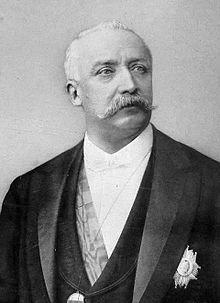 Félix Faure (1841-1899), 7e président de la République française du 17 janvier 1895 au 16 février 1899.