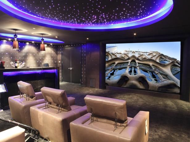 futuristic design httpwwwhgtvremodelscominteriors home theatre ideashome theatre roomshome theater - Home Theatre Design Ideas