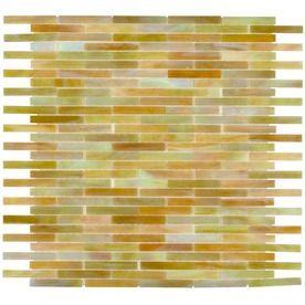 Elida Ceramica Glass Mosaic Onyx Brick Tiles