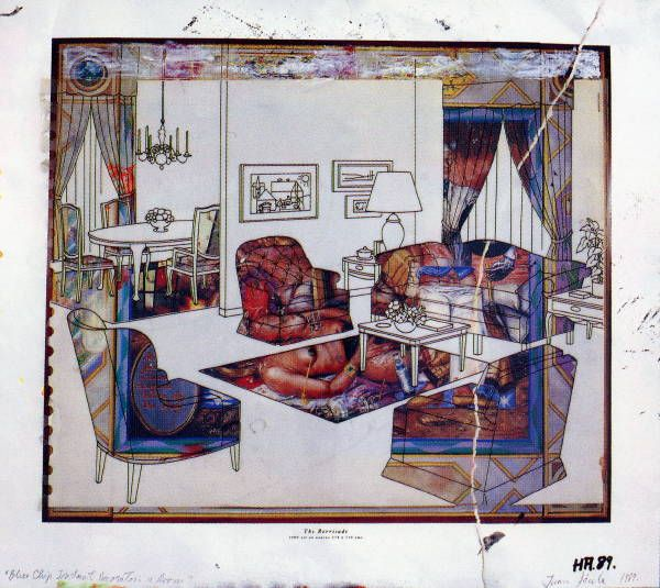 Blue Chip collage 1989 Howard Arkley