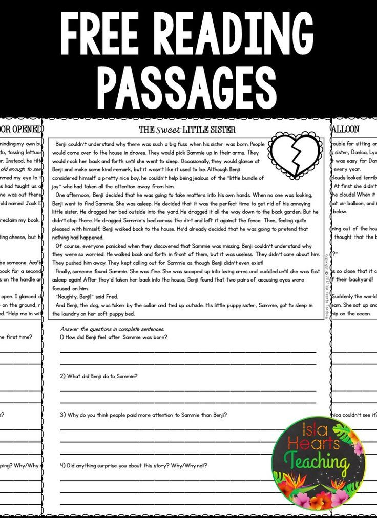 Free Third Grade Reading Comprehension Passages And Questions  #readingcomprehension #re… Third Grade Reading Worksheets, Reading  Worksheets, Free Reading Passages