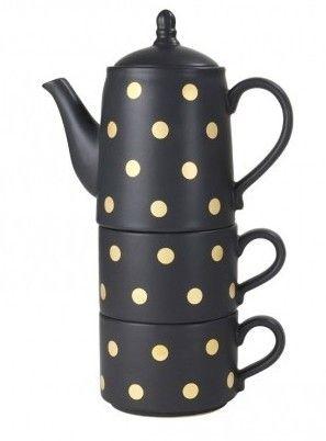 Robert Gordon Tea For 2 - Black+Gold Spot