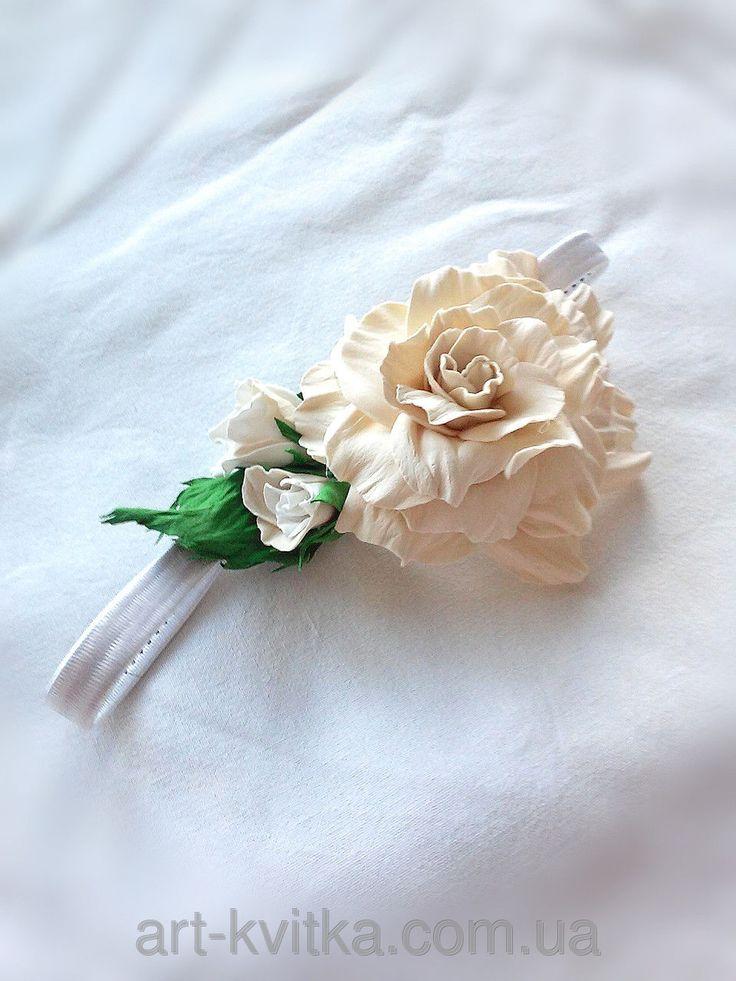 Повязка - резинка на голову для деток, #детская повязка с цветком.  #flower crown. Flower #crown
