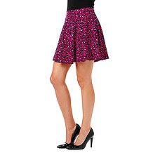 Free Fusion Animal Print Skater Skirt - Red