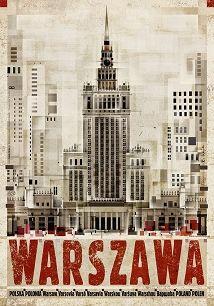 Warszawa, plakat z serii Polska, Ryszard Kaja