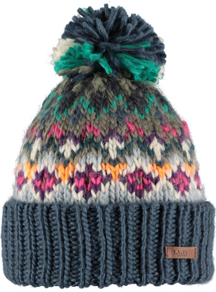 NEW 2016 BARTS CARMEN OLD BLUE 0693004 ADULT BEANIE POM HAT LADY WOMEN MULTI in Clothes, Shoes & Accessories, Women's Accessories, Hats | eBay