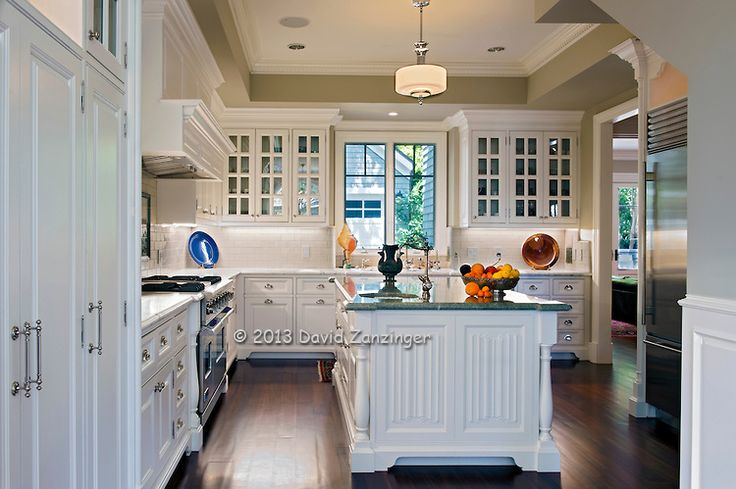 white cabinets | Kitchen, white cabinets, wood plank floor