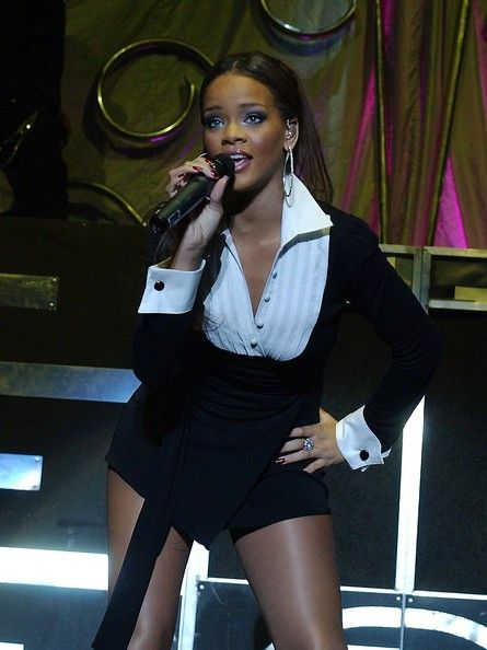 Rihanna performs at the Point Theatre on February 02, 2007 in Dublin, Ireland.