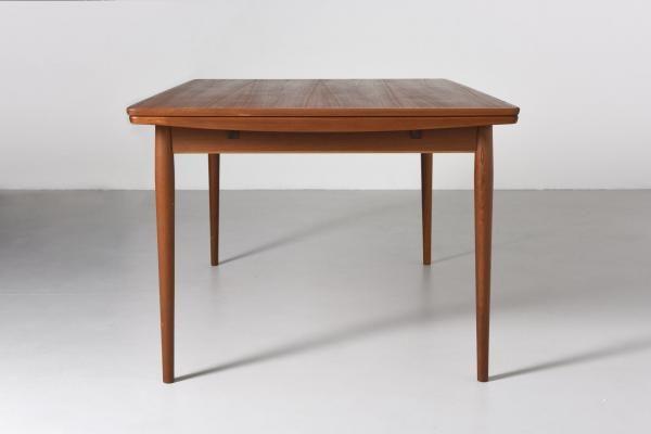 Vintage Teak Extendable Dining Table By Arne Vodder For Sibast 4